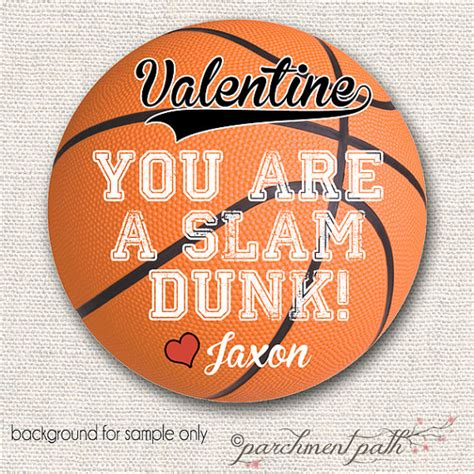 basketball valentines items similar to you re a slam dunk basketball