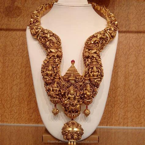Jewellery Gold Design Angti by Gold Antique Nakshi Necklace From Naj Necklace