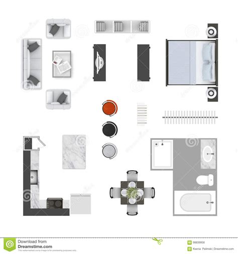 best home design elements top preferred home design top view of home furniture vector illustration
