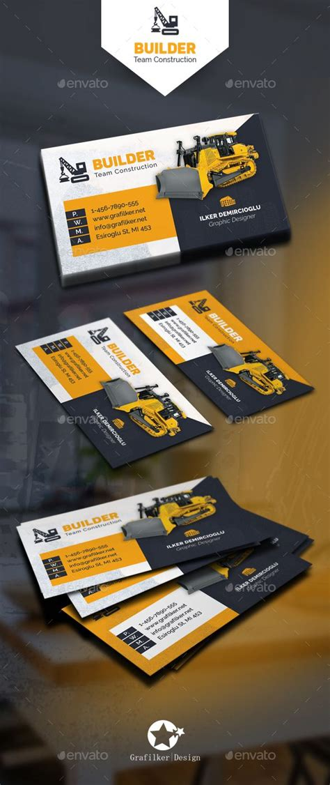 construction business cards templates photoshop best 25 construction business cards ideas on
