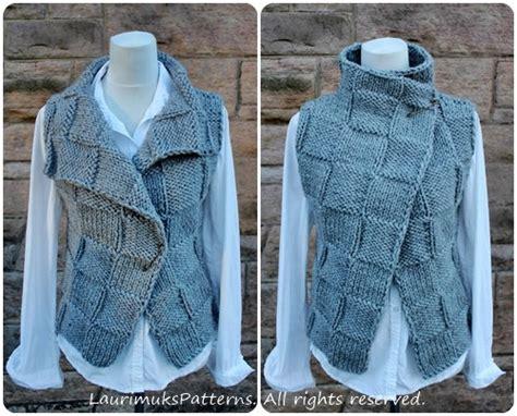 sleeveless jacket knitting pattern knitting pattern the ghost wrap womens sleeveless jacket