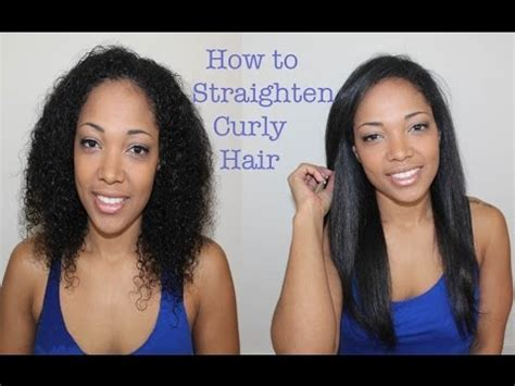how to pin curls natural straightened hair curly to straight hair youtube