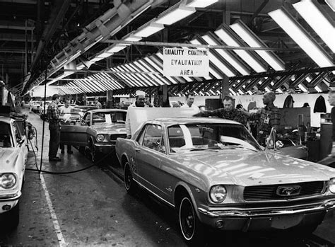 ford car line ford mustang assembly plant 1965 classic cars today