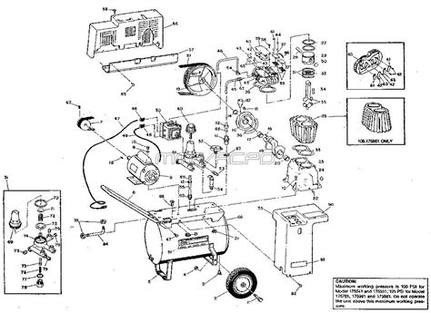 sears craftsman air compressor parts 106 175541