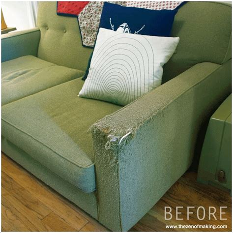 how to fix a couch fabric sofa repair repairing a cat scratched couch