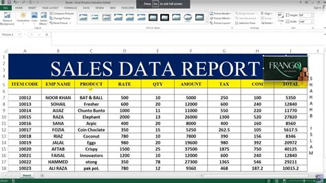 report book exle how to make sales report in excel 26