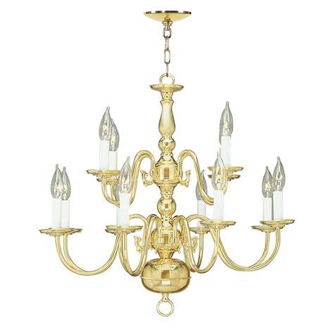 Polished Brass Chandelier Livex Lighting 8 Light Polished Brass Chandelier 5012 02 The Home Depot