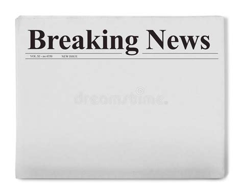breaking news powerpoint template breaking news title on newspaper stock illustration