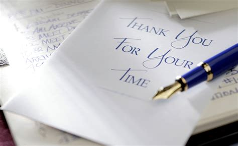 Thank You Letter For Your Time Thank You Letter Guidelines