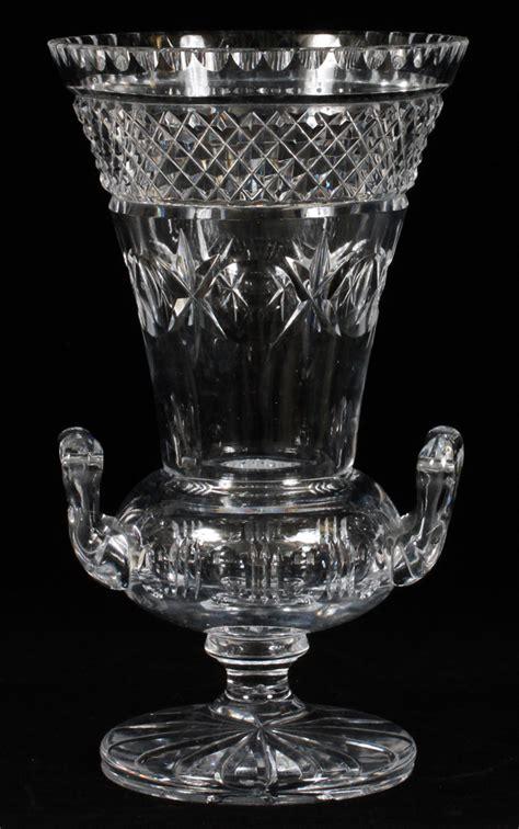 Cut Glass Flower Vases by Cut Glass Flower Vase Circa 1930