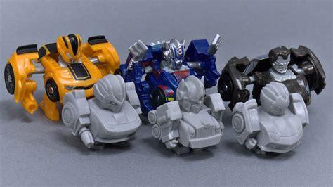 q transformers optimus prime bumblebee and lockdown unpainted minifigures transformers news