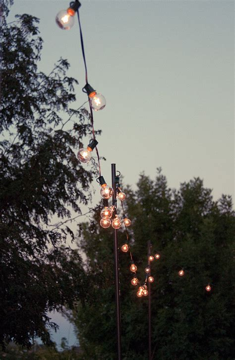 Outdoor Summer String Lights Diy Outdoor String Lights Popsugar Home
