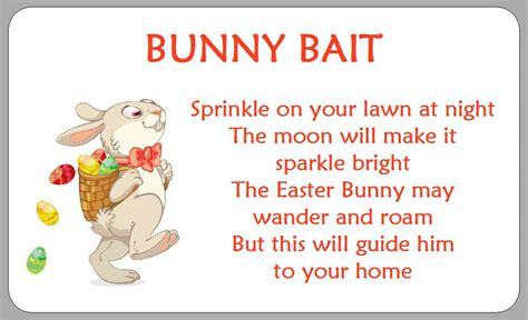 The Rhyming Rabbit bunny bait poem labels easter egg hunt stickers novelty rabbit a ebay