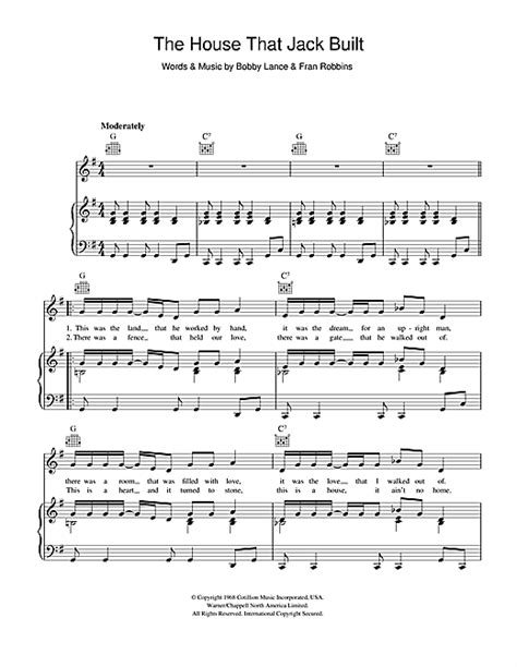 jack house music the house that jack built sheet music by aretha franklin piano vocal guitar right