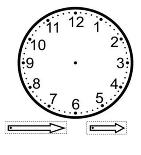 A Clock Template That Can Be Used As A Craft With The Students Hands Of Clock Are Cut Out And Clock Craft Template