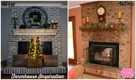 painted brick fireplace farmhouse inspiration shabby paints