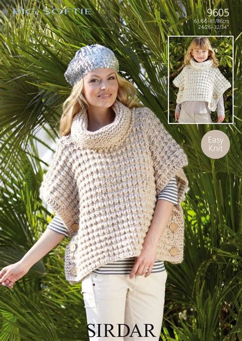 poncho knitting pattern chunky free knitted ponchos for big softie
