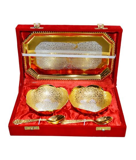 Tupperware Clear Bowl Set Gold 5pcs marusthali gold silver matte finish brass bowls 5 pcs buy at best price in india