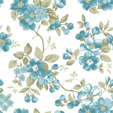 Seamless Pattern Ai File | clair floral seamless pattern vector 01 vector floral