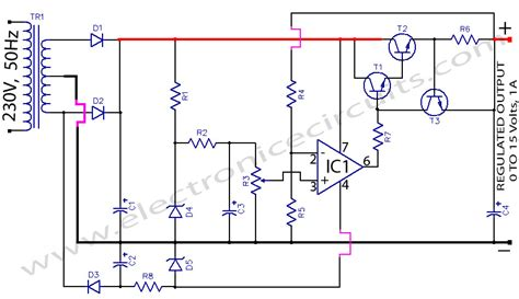 fungsi transistor 2n3055 pada power supply regulated power supply using 741 and 2n3055 electronic circuits