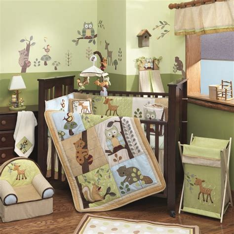 woodland themed nursery bedding forest animal decoration vl aa1500 autumn inspired
