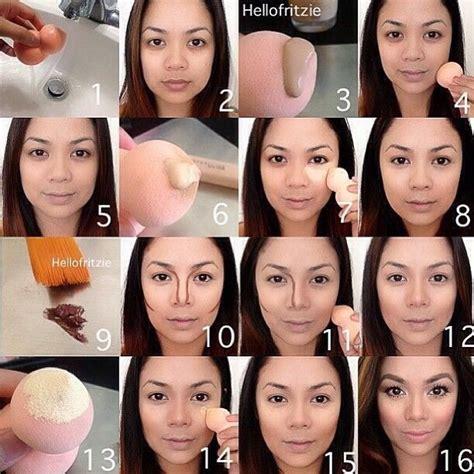 tutorial makeup base contour ur face easy steps trusper