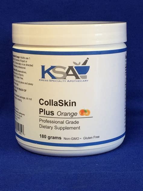 Collaskin Collagen collaskin plus orange kress specialty apothecary