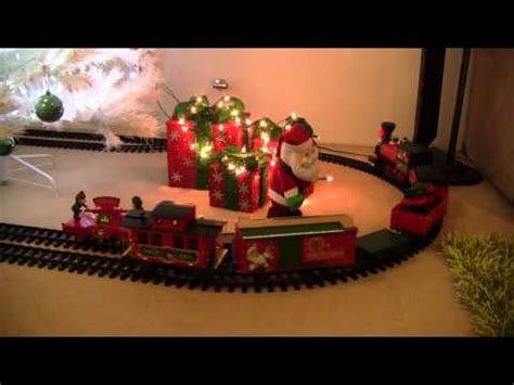 north pole express train set around christmas tree 2012