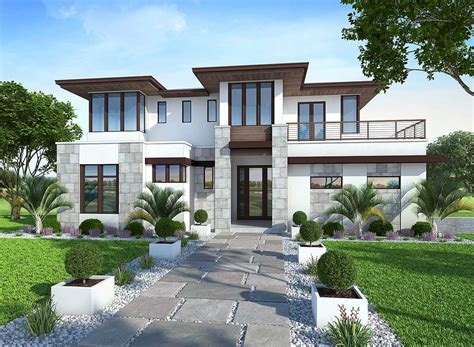 lanai house plan 86033bw spacious upscale contemporary with multiple