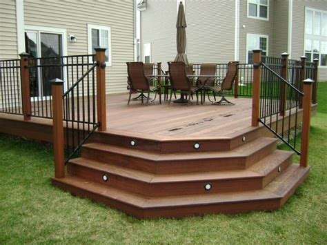 Patio Steps Design Ipe Hardwood Deck Chicago By Millennium Construction