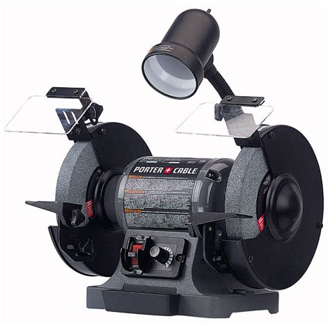bench grinder variable speed shop porter cable 8 in variable speed bench grinder with light at lowes com