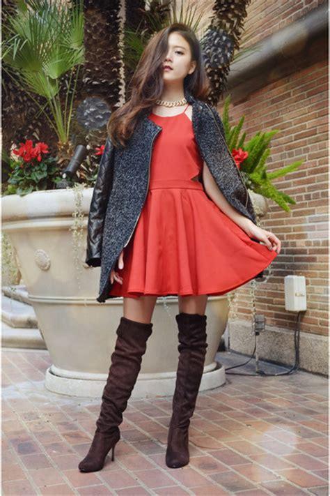oversized coat dresslink coats dresslink boots red party