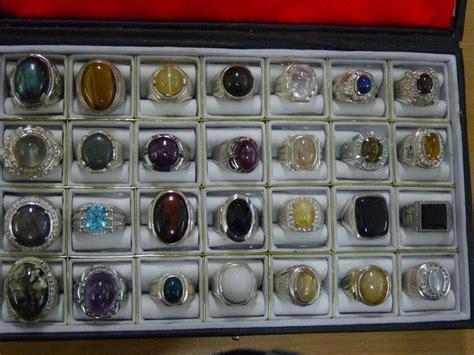 Cincin Batu Akik Madu Ring Titanium 1 macam batu mulia dan batu akik okto jewelry shop