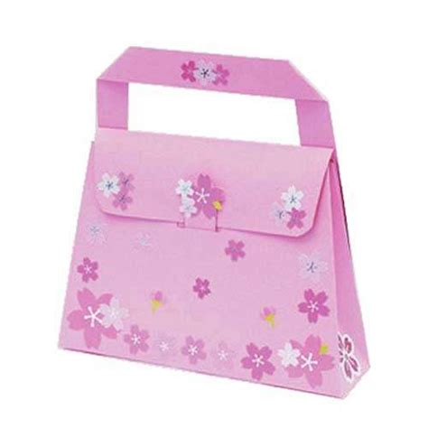 paper craft bag paper bag bag papercraft with free template