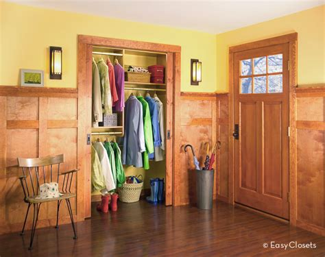 entry closet ideas closet designs for your foyer by easyclosets com