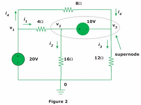 nodal analysis voltage across resistor electrical circuits