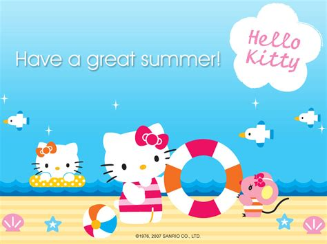 hello kitty summer hello kitty summer wallpaper wallpapersafari