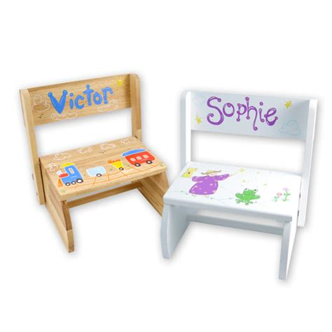 Personalized Name Step Stool by Personalized Step Stool