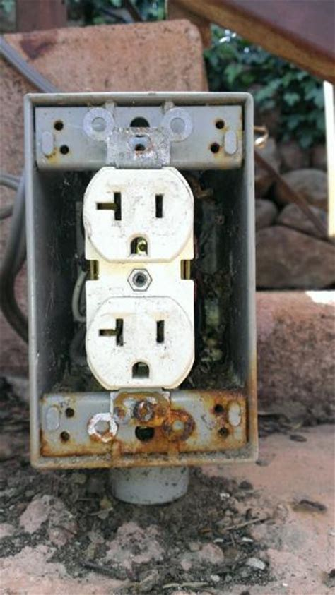 The Backyard Outlet by Fixing An Outdoor Receptacle Doityourself Community