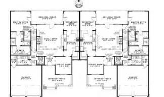 luxury duplex house plans ensenada luxury duplex home plan 055d 0888 house plans