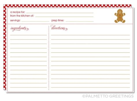 Cookie Recipe Card Template by Printable Recipe Card With Theme