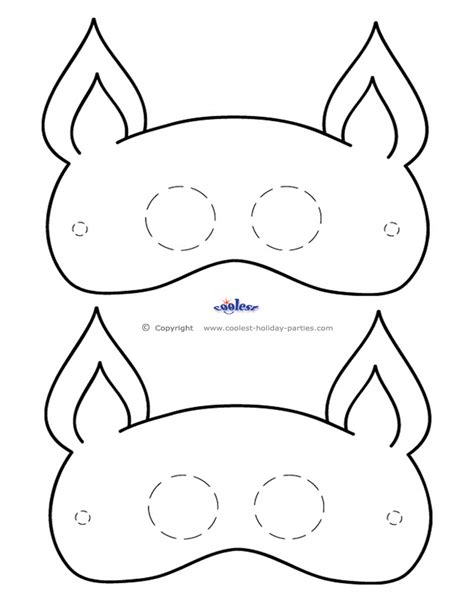 cat mask template 10 best images of printable masquerade masks free