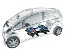Electric Car Layout 2012 Mitsubishi I Electric Car X Cutaway Shows Layout