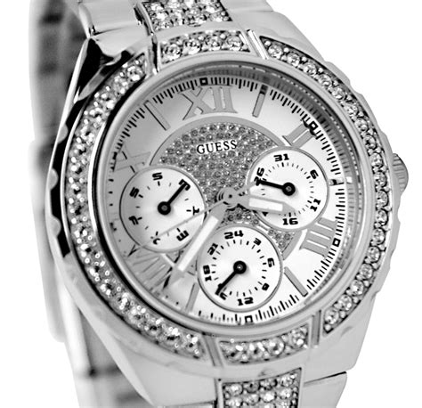 Silver Watches guess s silver suave gear
