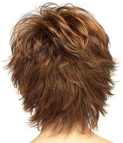 hairstyles back view for short layered shag 20 wavy hairstyles for short hair short hairstyles 2017