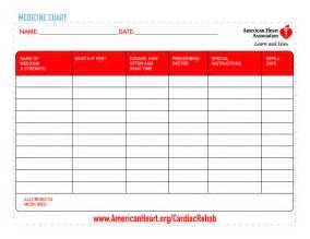 8 best images of printable patient chart for medication
