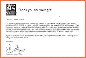 Thank You Letter For Donation To Department Thank You For Your Donation Letter Bio Exle