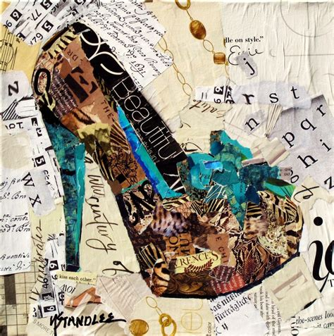 Paper Collage - mixed media artists international painted paper collage