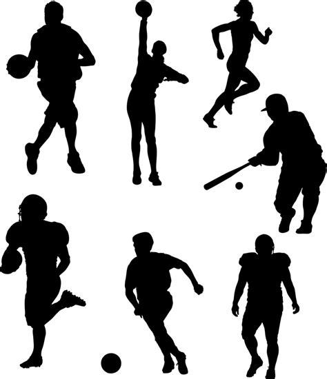 Sports Player Outline by Sports
