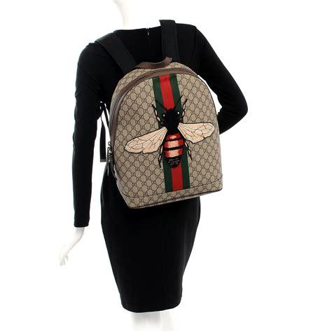 Backpack Fashion Bee gucci gg supreme monogram web animalier bee backpack 209671